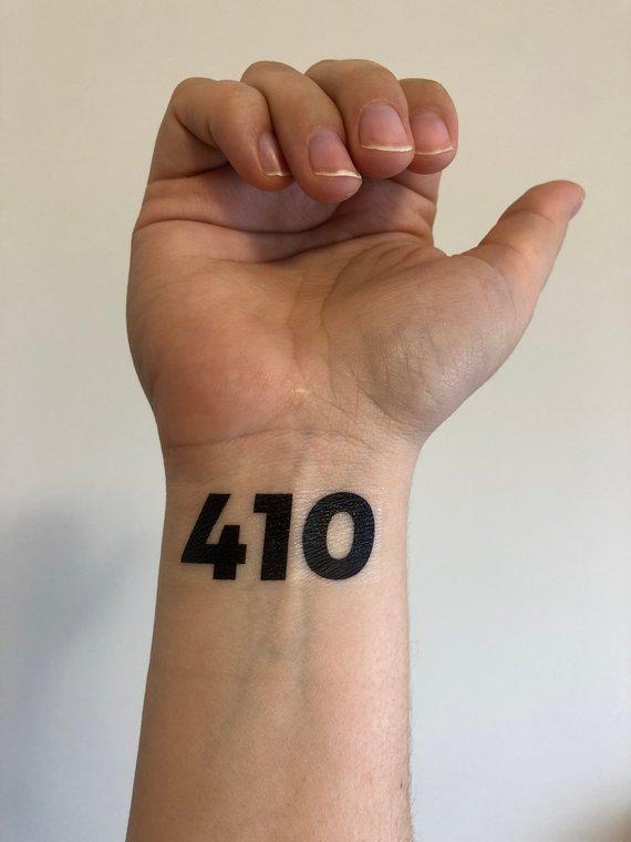 custom temporary tattoo // zip code or area code | Products | Custom ...