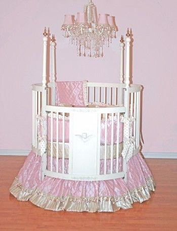 Bella Round Crib Bedding Set by Little Bunny Blue, Luxury ...