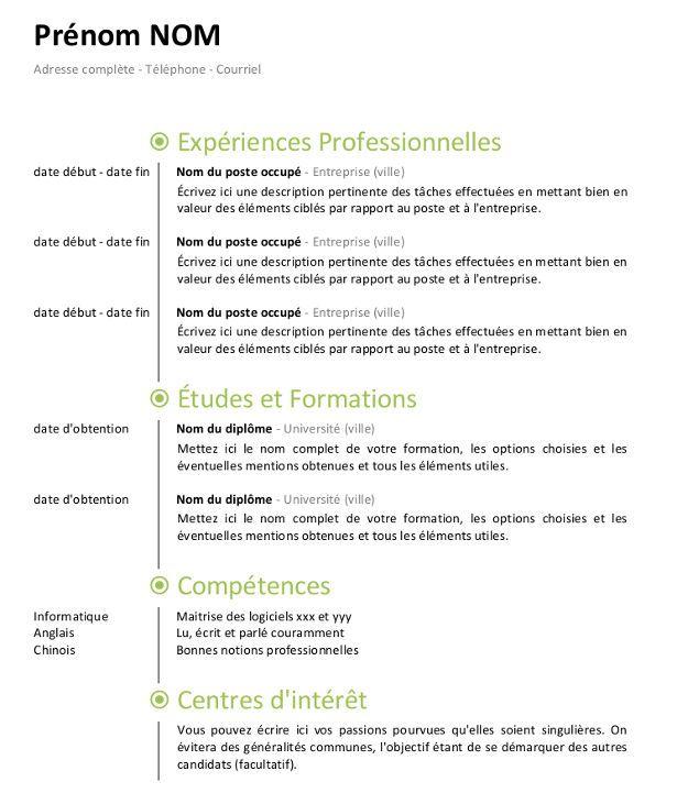 Cv Ligne De Temps Jpg 615 731 Resume