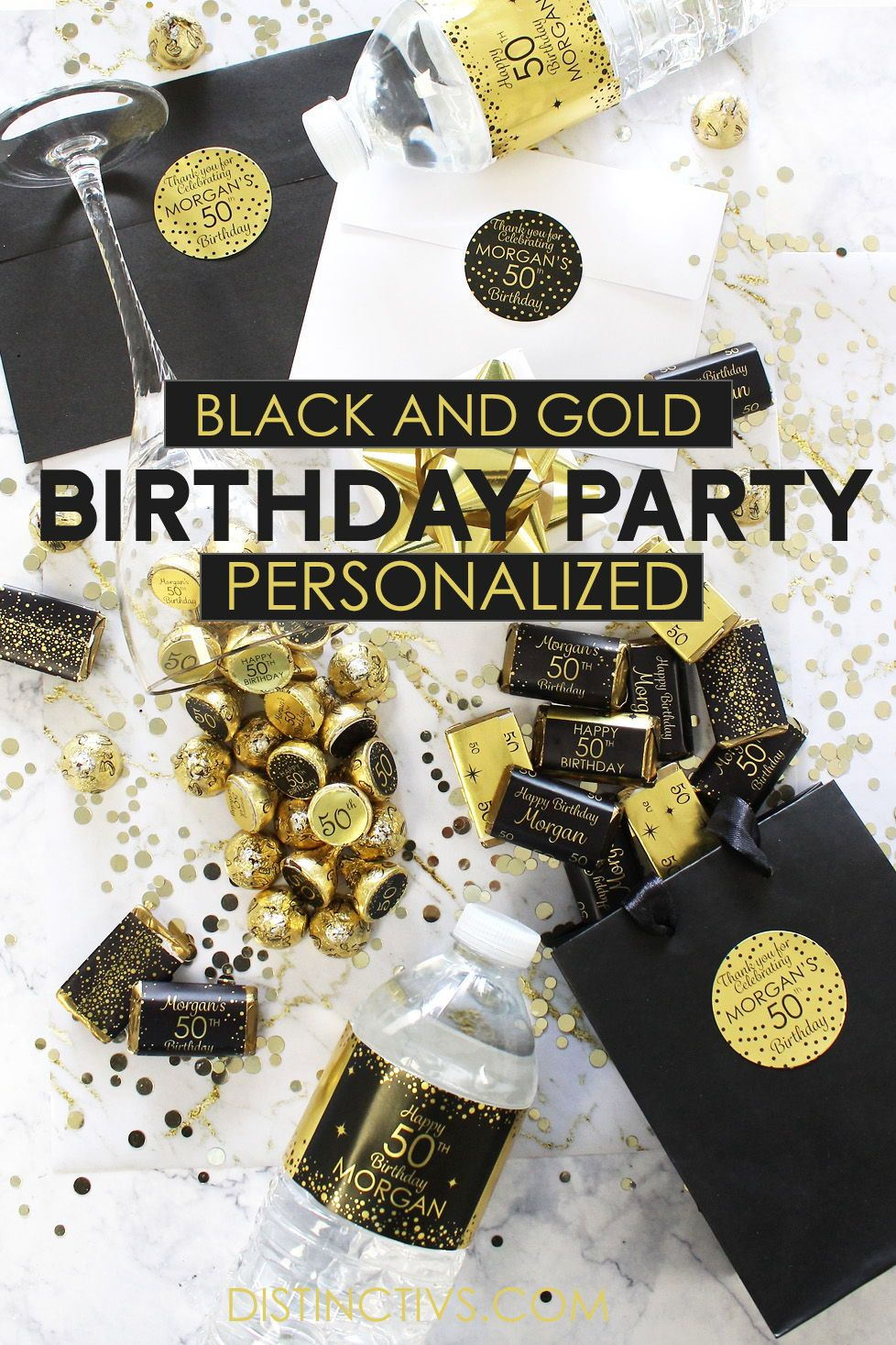 Black And Gold Birthday Party Personalized Add Any