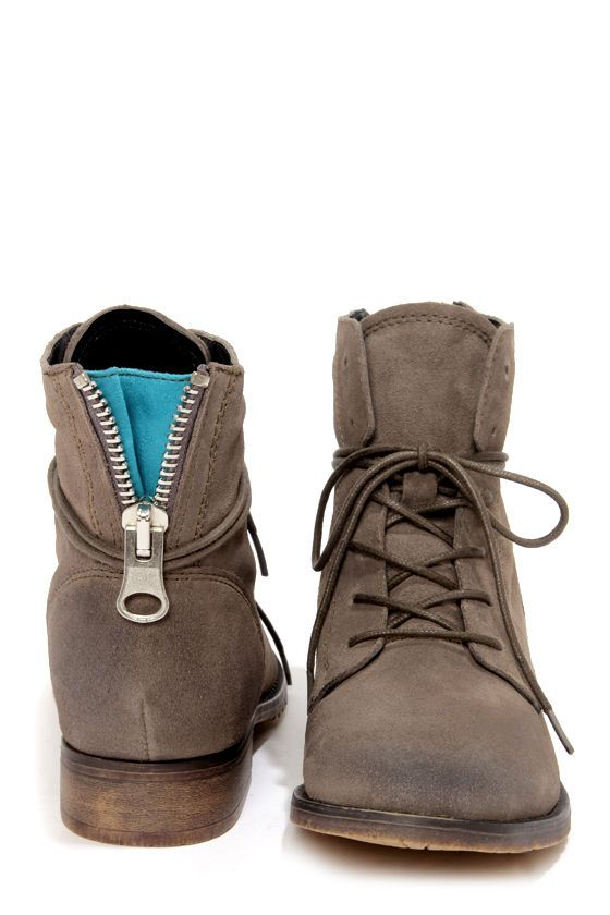 452de8e0271 Steve Madden Rawlings Grey Suede Lace-Up Ankle Boots | Stitch fix ...