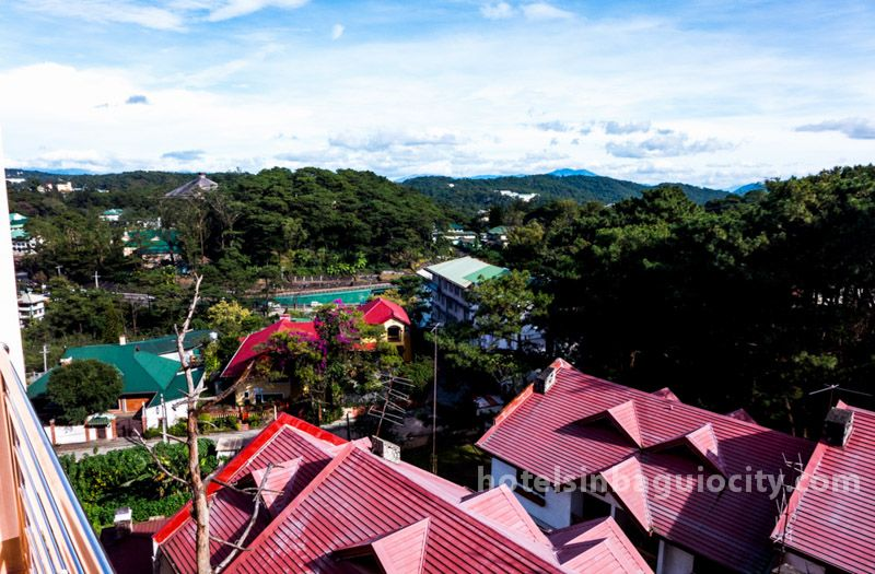 View from room of Hotel Henrico at Legarda Road, Baguio City, Philippines