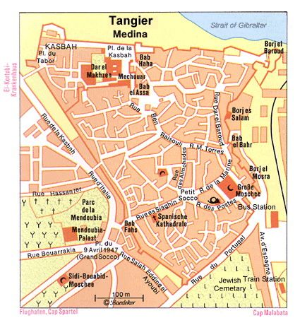 Map of Tangier Medina PlanetWare Morocco Pinterest Tangier