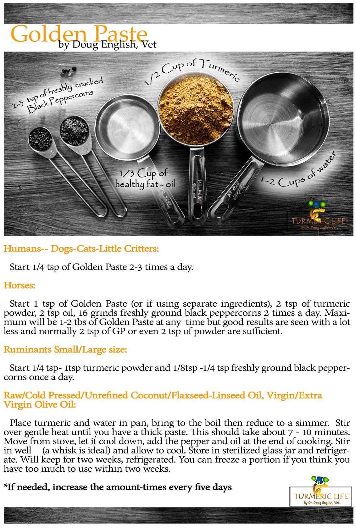 Turmeric Golden Paste Doug English Turmeric Life Turmeric Recipes Golden Paste Turmeric Golden Paste