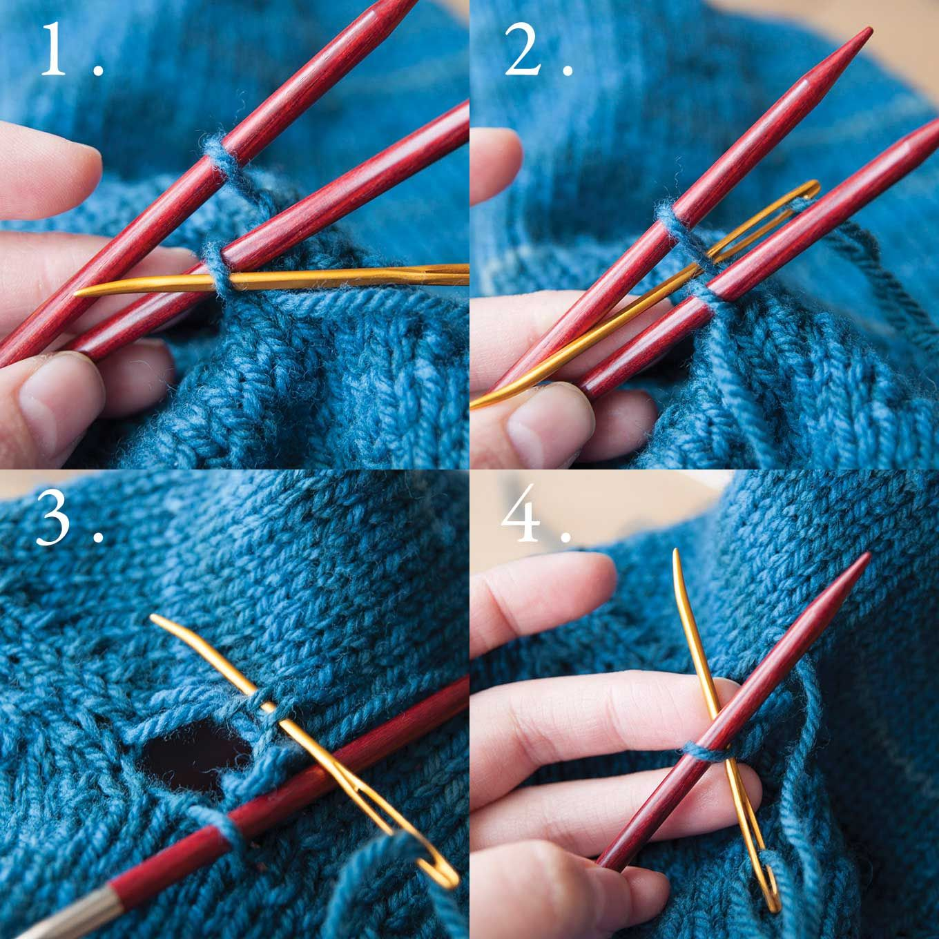Nice tutorial on how to graft underarm stitches with no holes, from ...