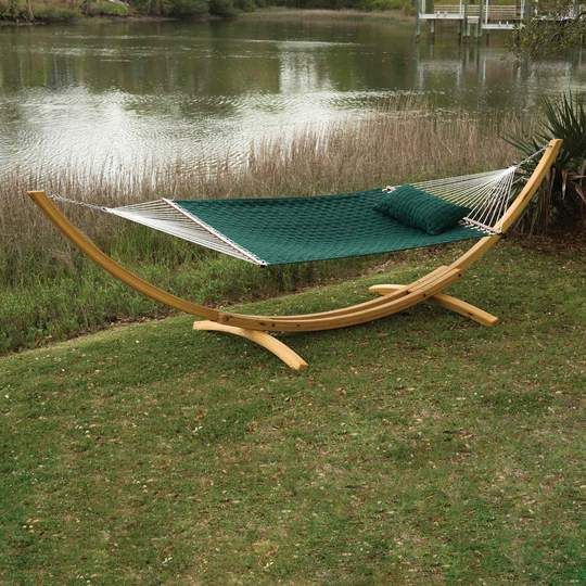 Pawleys Island Roman Arc Cypress Hammock Stand Outdoor