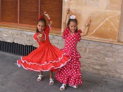 Spain Clothing Girls In Andalucia In Southern Spain In