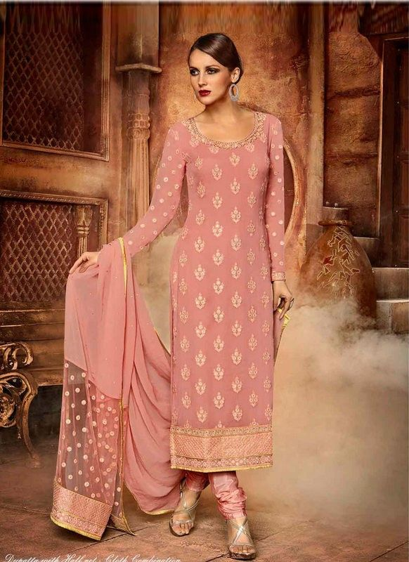 5039b9486a buy saree online Light Pink Colour Faux Georgette Party Wear Salwar Suit  Buy Saree online - Buy Sarees online