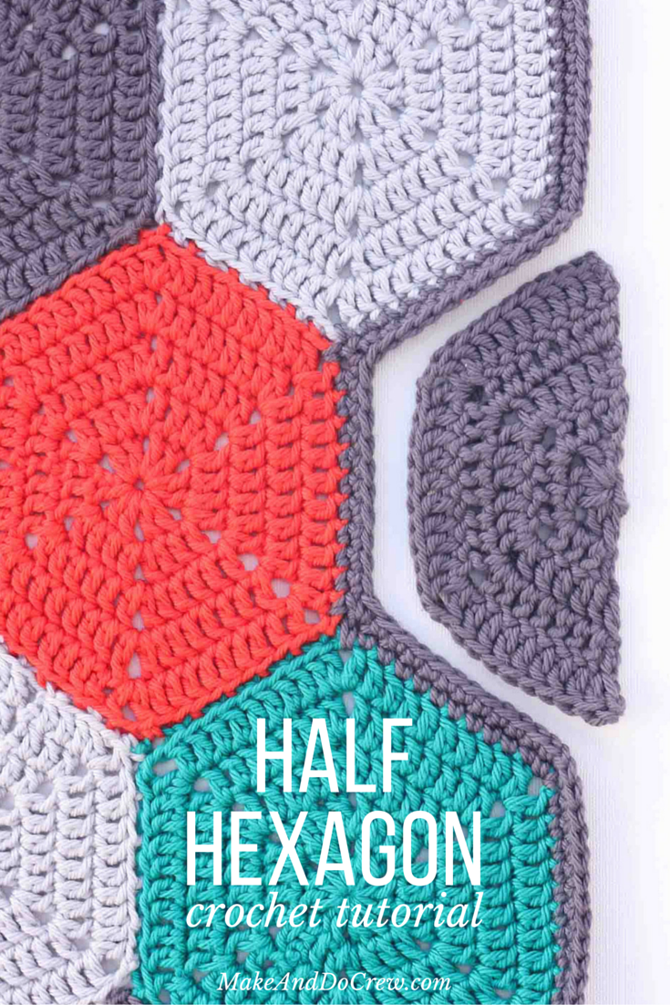Tutorial how to crochet a half hexagon afghans crochet and this tutorial will teach you how to crochet a half hexagon and customize the size bankloansurffo Image collections