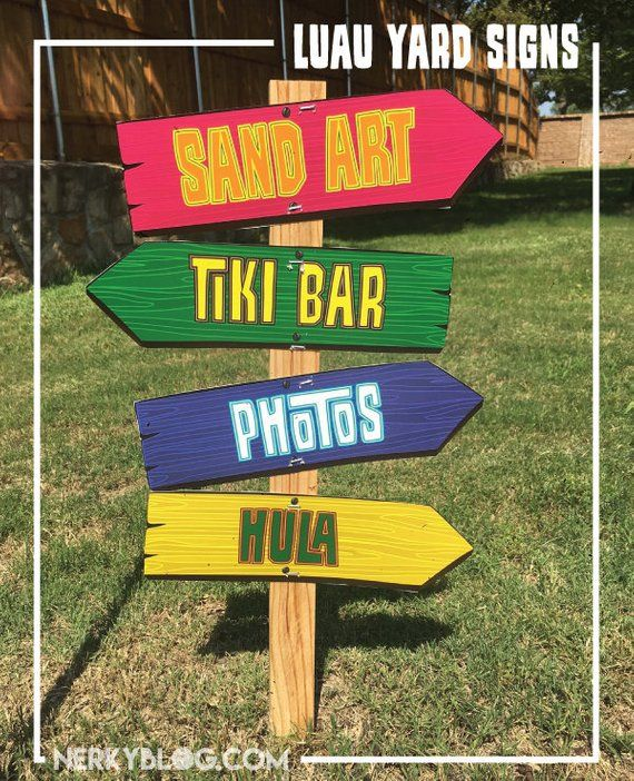 photo regarding Printable Yard Signs referred to as Luau occasion signs and symptoms Beach front Topic, Hawaiian, Wood Visual appeal