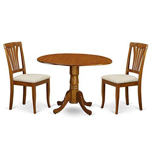 East West Furniture Dlav3Sbrc 3Piece Kitchen Nook Dining Table Cool 3 Piece Kitchen Table Set Inspiration Design