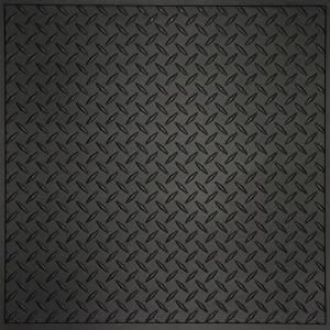 Black Diamond Plate Plastic Sheets 4 X 8 Wall Panels Transform Basements Laundry Or Mud Rooms Into Stylish Black Ceiling Tiles Diamond Plate Ceiling Panels
