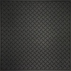 Black Diamond Plate Plastic Sheets 4\u0027 x 8\u0027 wall panels transform basements & Black Diamond Plate Plastic Sheets: 4\u0027 x 8\u0027 wall panels transform ...