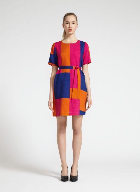 Tiki-mekko (oranssi, pinkki, sininen) |Vaatteet, Naiset, Mekot ja hameet | Marimekko