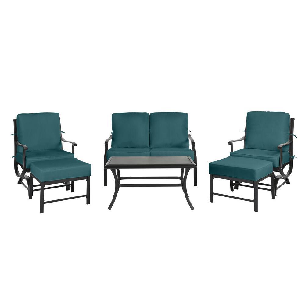 Hampton Bay CushionGuard Charleston Patio Deep Seating Slipcover Set