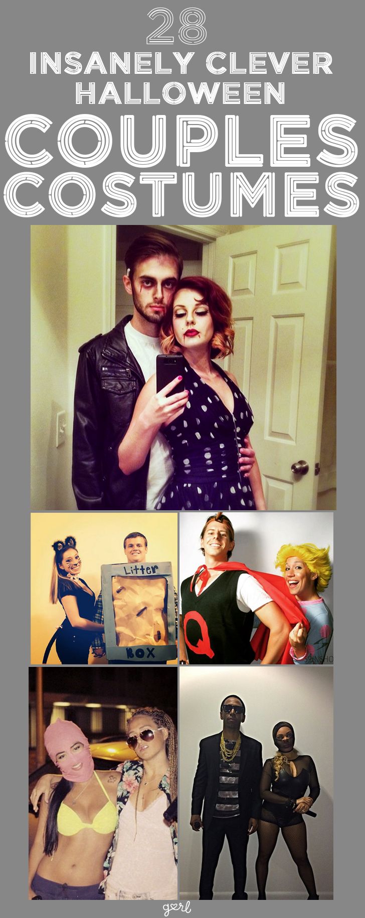 28 insanely clever diy couples costumes for halloween no. Black Bedroom Furniture Sets. Home Design Ideas