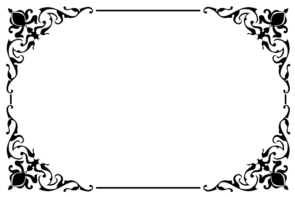 Plantilla De Arte De Pergamino-fronteras Esquinas Mariposa Patrón De Remolino 106