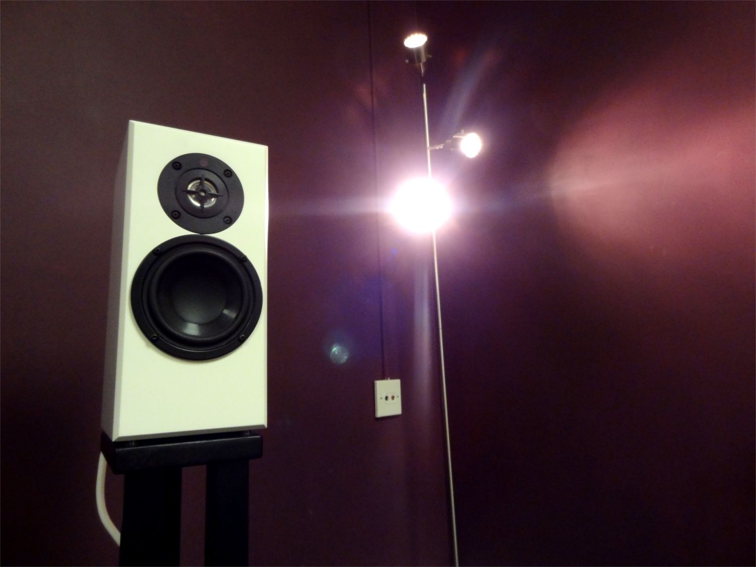 Demonstrating the beautifully compact Totem Acoustic