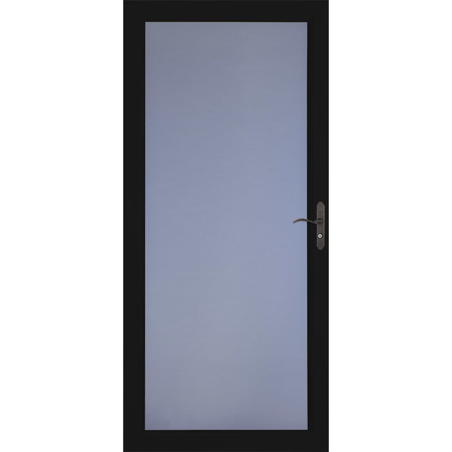 Larson Signature Selection Black Full View Aluminum Standard Storm Door Common 36 In X 81 In Actual 35 Aluminum Storm Doors Storm Door Security Storm Doors