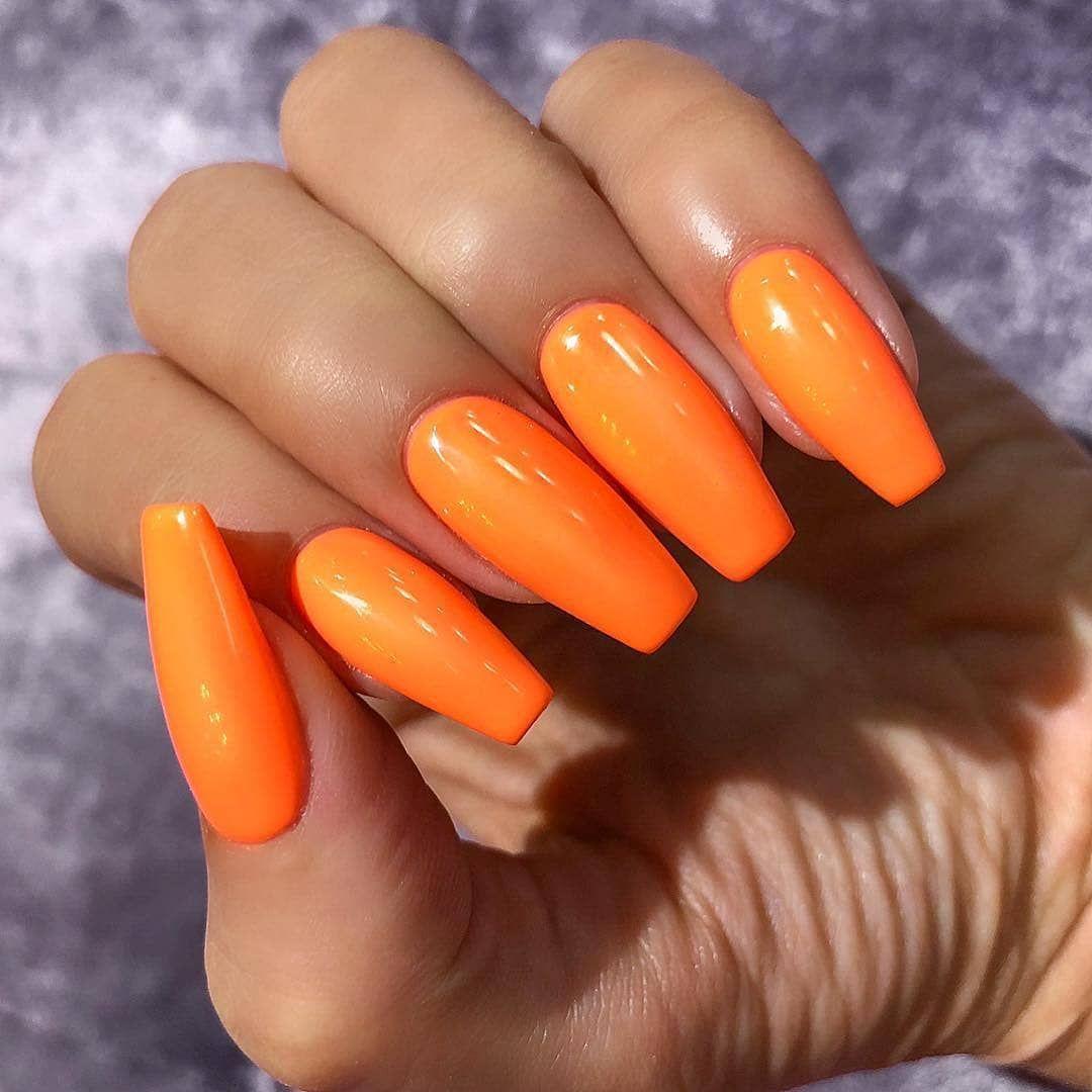 Pin Jaimariahoward In 2020 Orange Nagel Trendige Nagel