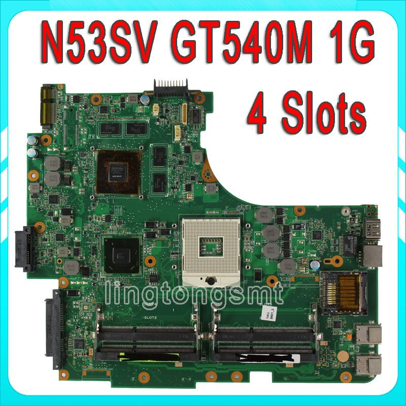 For Asus N53s N53sv N53sn N53sm Motherboard N53sv Rev2 2 Mainboard Gt540 1g N12p Gs A1 4 Ram Slots 100 Tested Laptop Motherboard Motherboard Asus