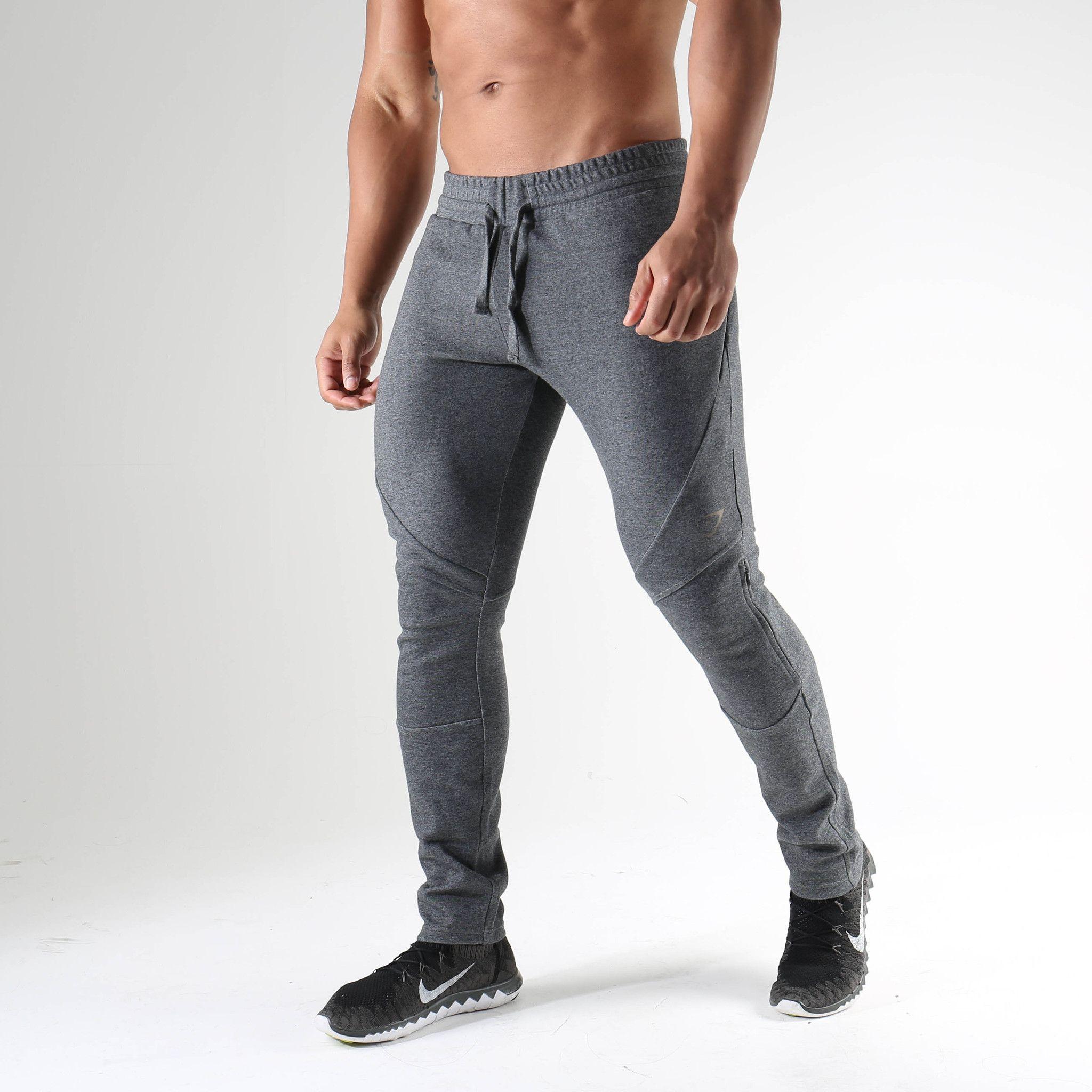 dcd4727a1 Hombre Activo Algodón Delgado Pantalones de Deporte Pantalones - Un Color |  Style | Slim sweatpants, Cotton harem pants, Sweatpants