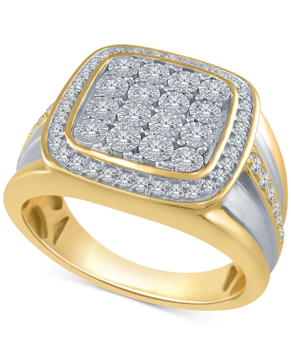 Macy's Men's Diamond TwoTone Cluster Ring (1/2 ct. t.w
