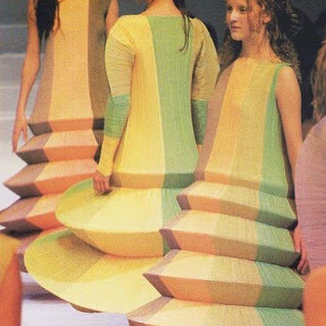 """Some colour to brighten my dull instagram! Issey Miyake, 1992 the year I was born! #pastel #yellow #fashun #art #runway #helotuesday via @nakid_magazine "" Photo taken by @nastassjavdmerwe on Instagram, pinned via the InstaPin iOS App! http://www.instapinapp.com (05/19/2015)"
