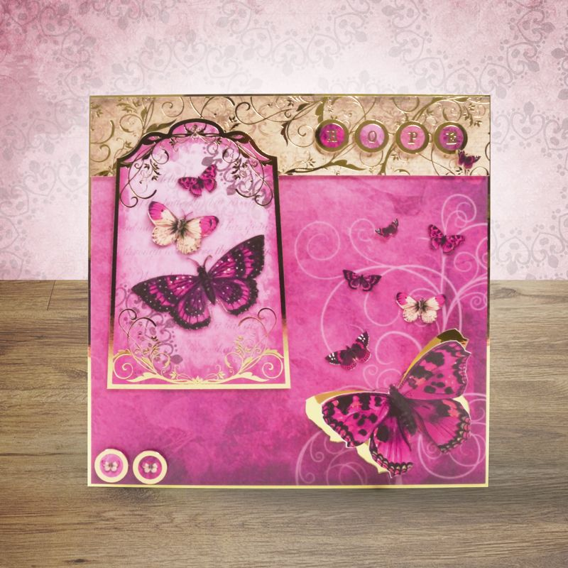 Hunkydory In Full Flight Butterfly Toppers /& Card Kit FOTB