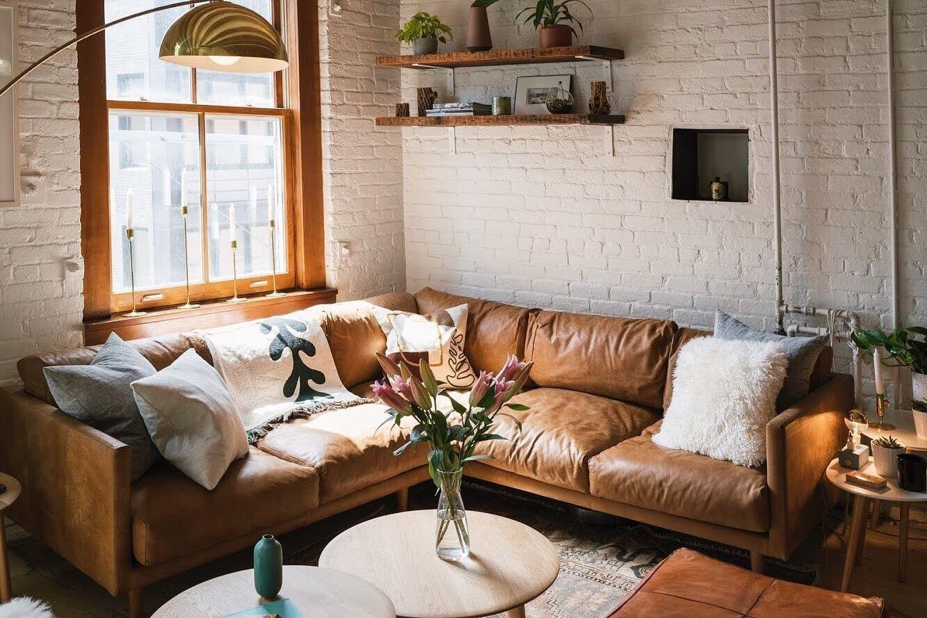Nirvana Dakota Tan Corner Sectional In 2020 Leather Couches Living Room Leather Sectional Living Room Brown Leather Couch Living Room