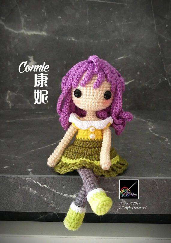 Crochet Doll Pattern Connie 康妮 | Tejido | Pinterest | Muñecas ...