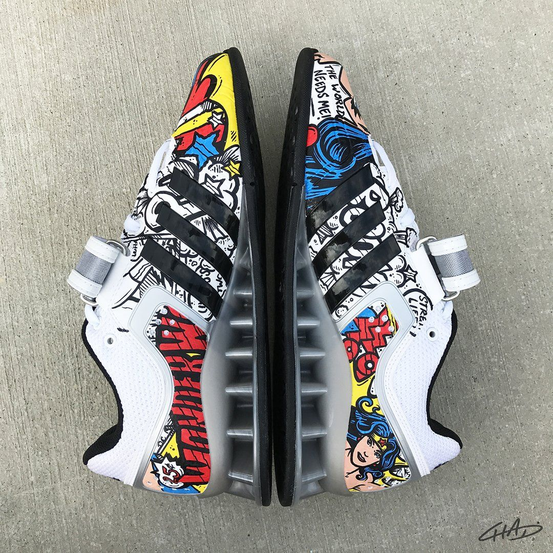 Superman Custom Hand Painted Adidas Adipowers Olympic