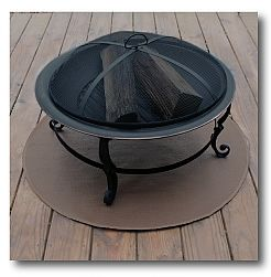 Fire Pit Mat Fiberglas And Hi Temperature Silicone Combine To Protect Your Patio Or Deck Logistics Safetyfirs Fire Pit Patio Furniture Fire Fire Pit Patio