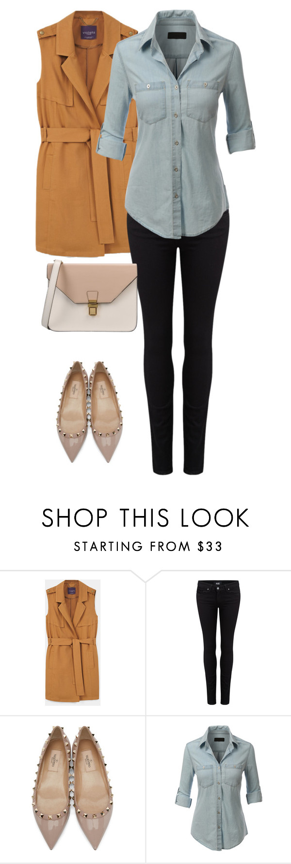 """""""Senza titolo #126"""" by nina-florence ❤ liked on Polyvore featuring MANGO, Paige Denim, Valentino, LE3NO and 8"""