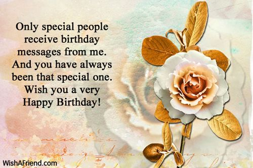 You deserve all the success Happy Birthday Wishes – Special Greeting for Birthday