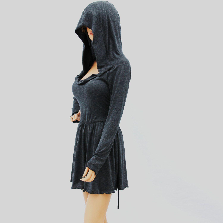 Cowl neck hooded dresswomen dresswomen shirt dress long sleeve