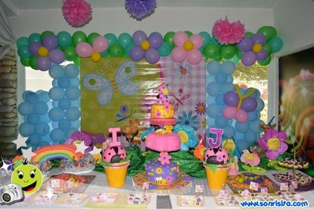 Decoracion Flores Y Mariposas Decoracion De Fiestas Infantiles Decoracion De Fiesta Decoracion Fiesta