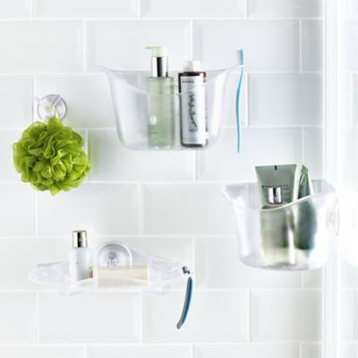 Umbra U Lock Suction Cup Bathroom Accessories In Shower Baskets And Shelves At Lakeland Bathroom Accessories Shower Basket Bathroom Wall Cabinets