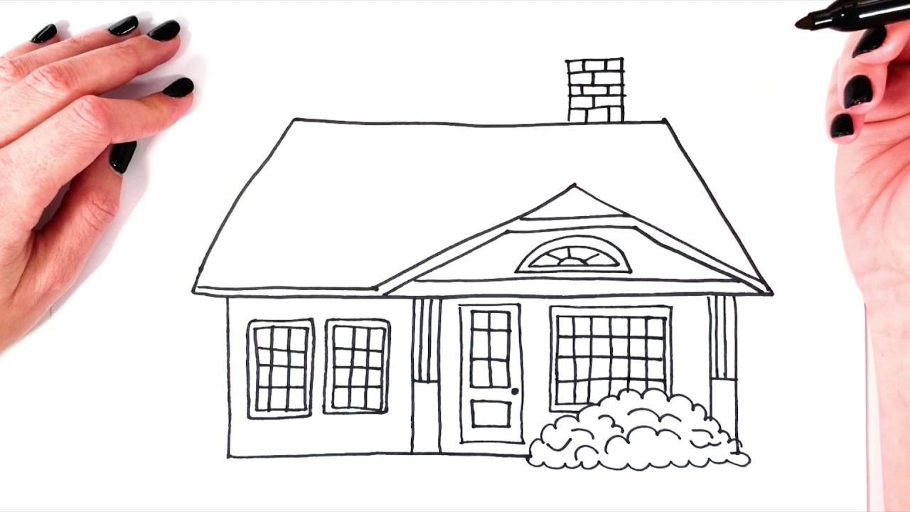 How To Draw A House Simple Step By Step Drawing Super Easy
