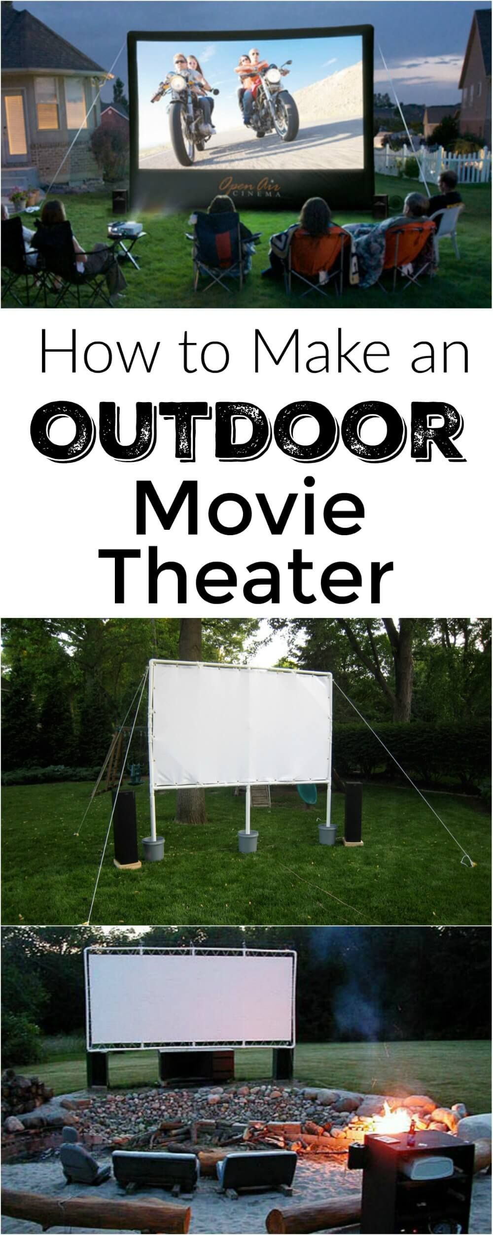 Step by step description of the components you need to put together a backyard  movie theater / out door movie From WholesomeMommy.com | Pinterest |  Backyard ...