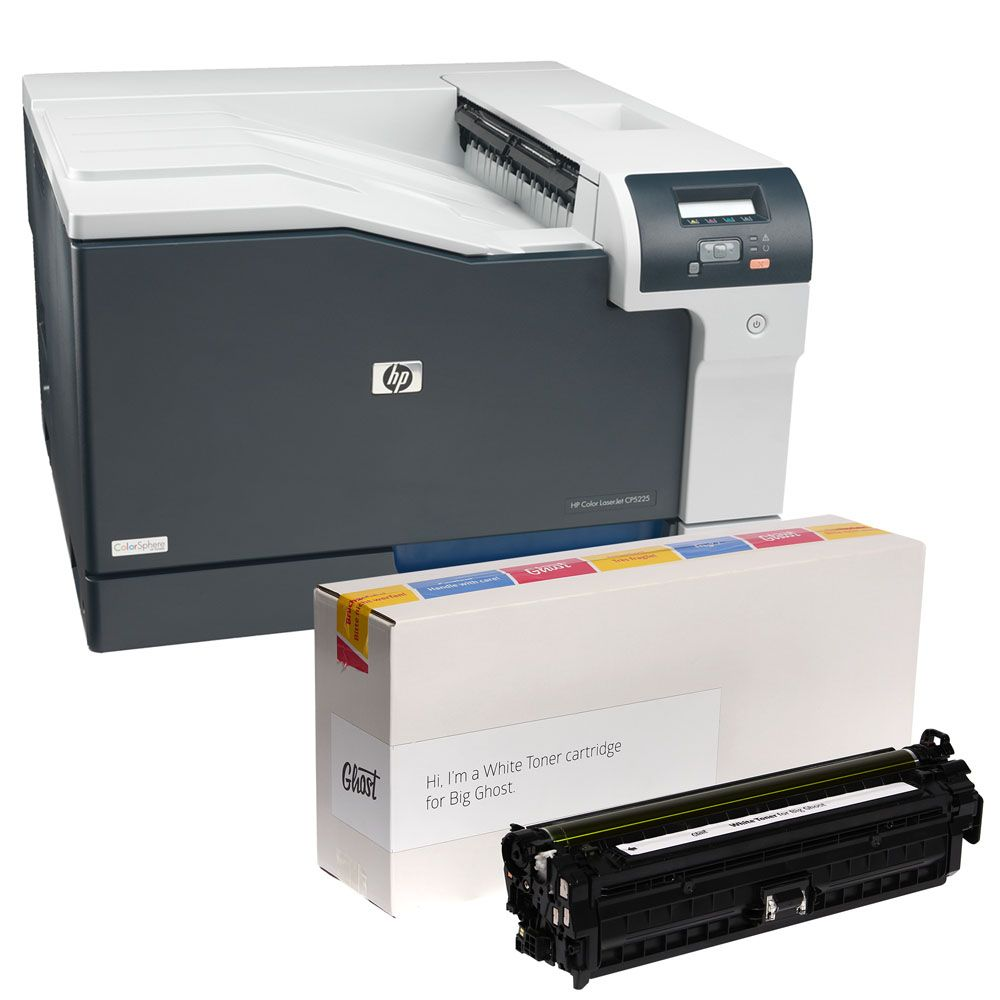 Hp Color Laserjet Cp5225dn Printer With Ghost White Toner White Toner Ghost White Printer Cover