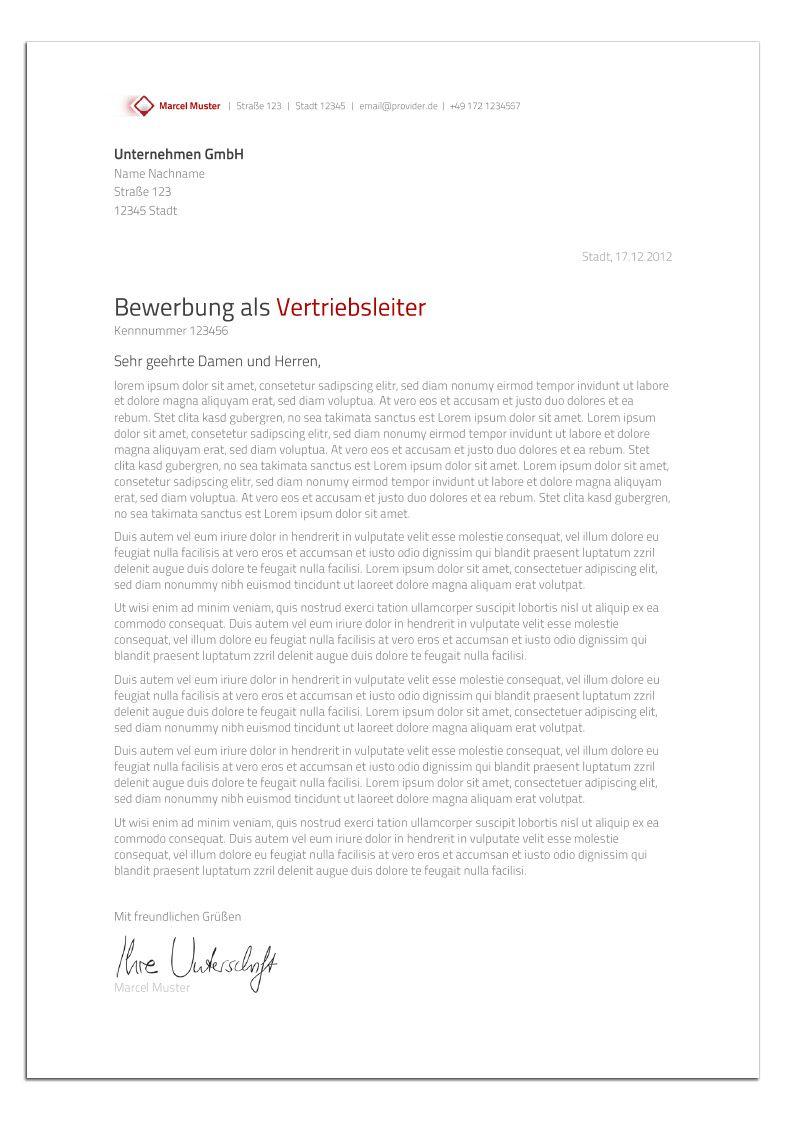 Bewerbungsdesign - Der Verkaufsprofi (Anschreiben) | Bewerbungstipps ...
