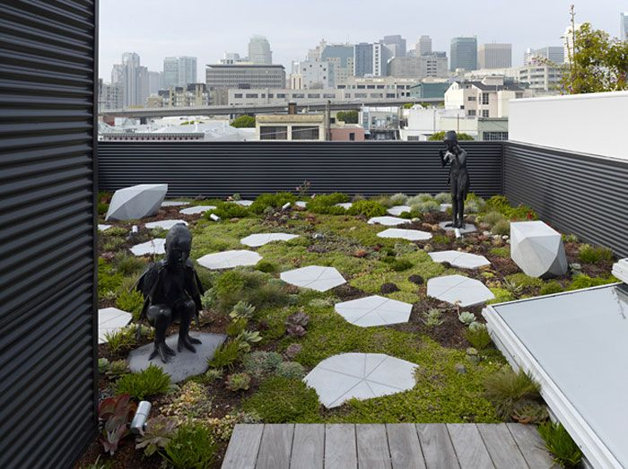Open Plan Gallery House Roof Garden Design Roof Garden Garden Design