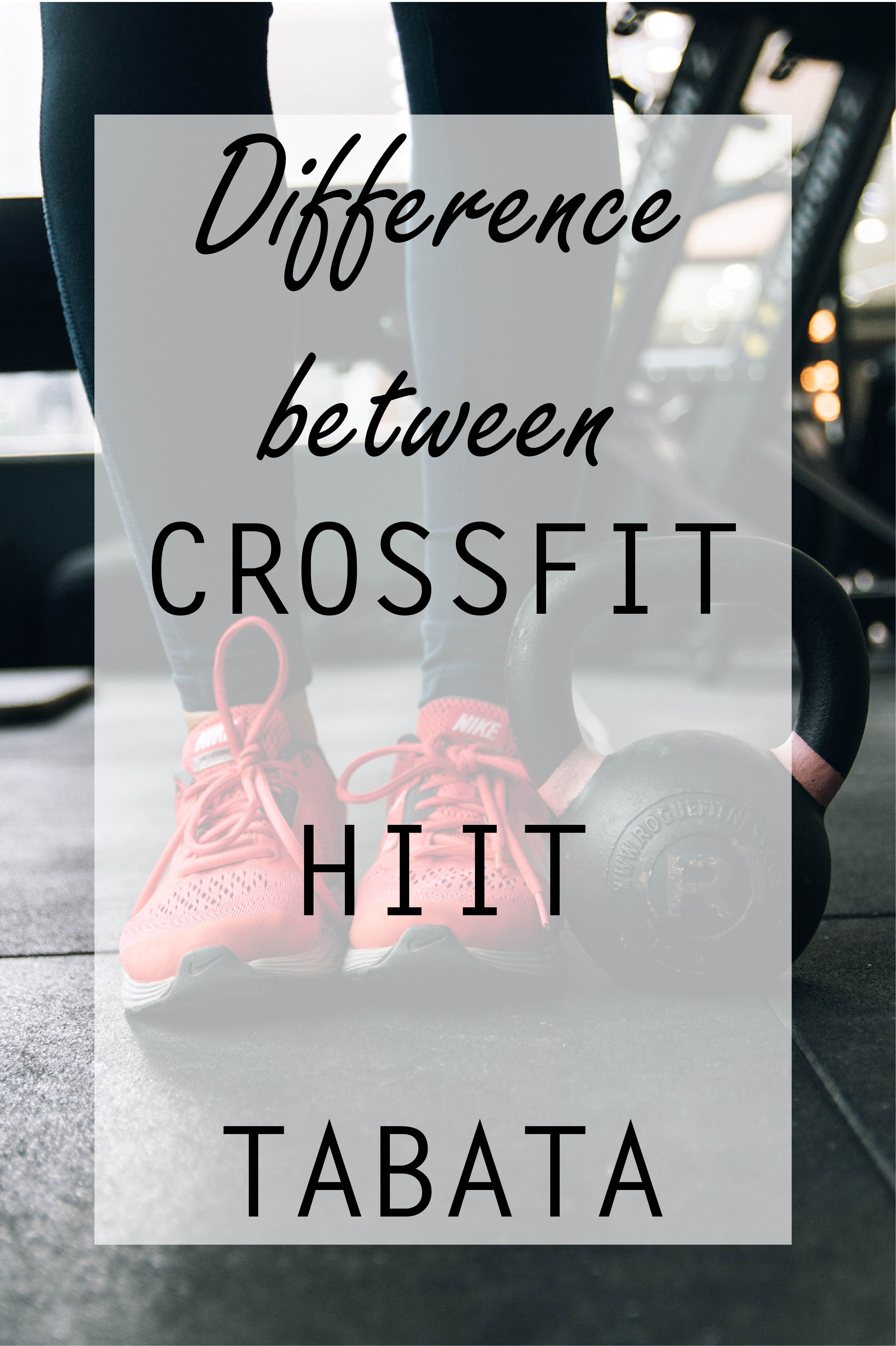 Difference between Crossfit, HIIT and TABATA (With images