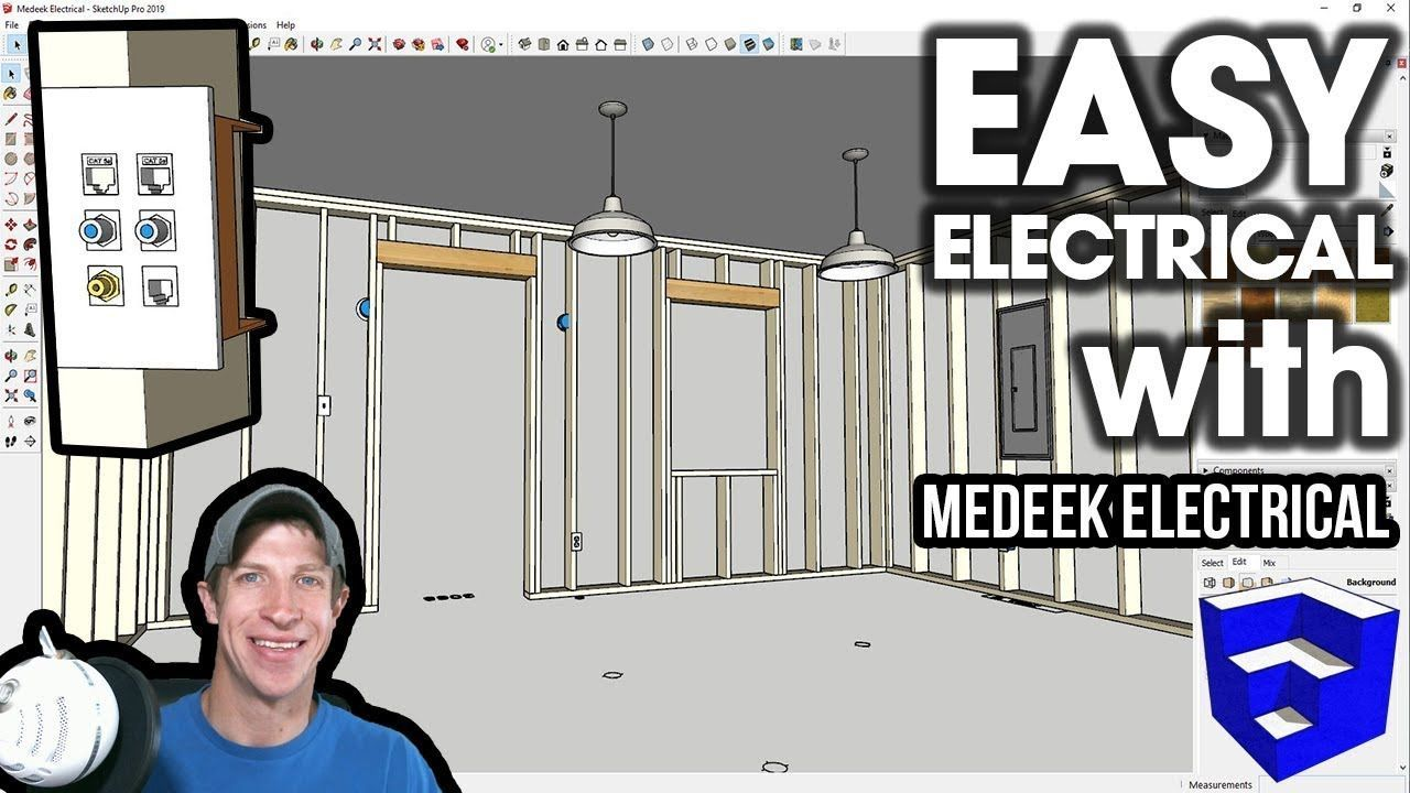 check out the new electrical sketchup extension from medeek design that lets you easily add electrical items and create electrical plans in your sketchup  [ 1280 x 720 Pixel ]
