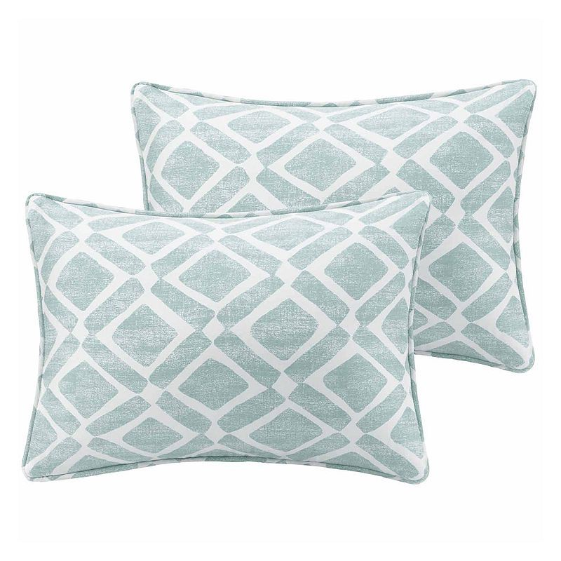 Ella Printed Oblong Throw Pillow Pair