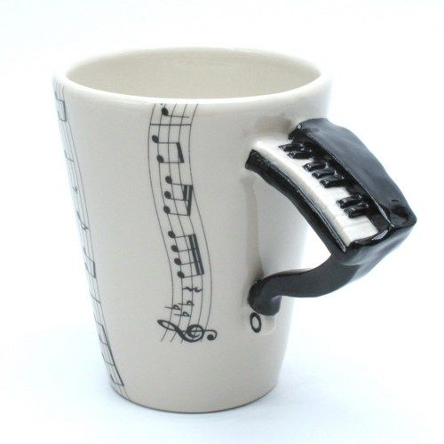 Black Piano Ceramic Mug 3d Handle Coffee Cup Music Lover Gifts Via Madamepomm Clay Mugs Mugs Gift For Music Lover