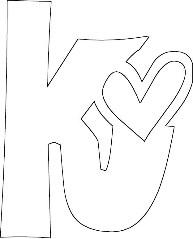 Letter K Coloring Pages Printable Lettering Coloring Pages