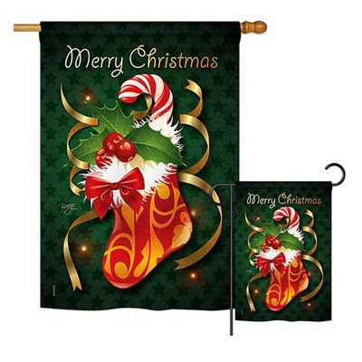 Breeze Decor Xmas Stocking Winter Christmas Impressions 2 Sided Polyester 40 X 28 In Flag Set In 2020 Xmas Stockings House Flags Decor