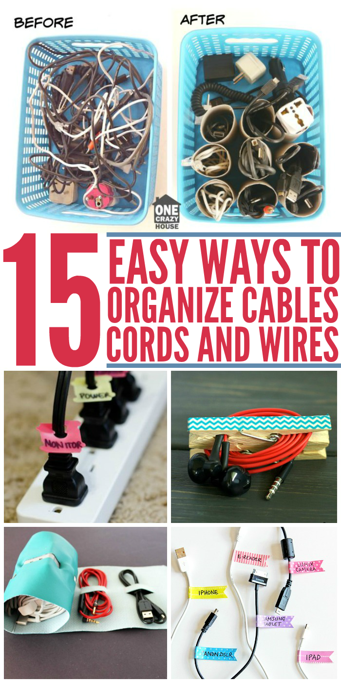 15 DIY Cord Organizers to Keep Your Wires and Cables Untangled ...